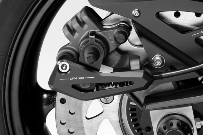 Rear brake clamp cover