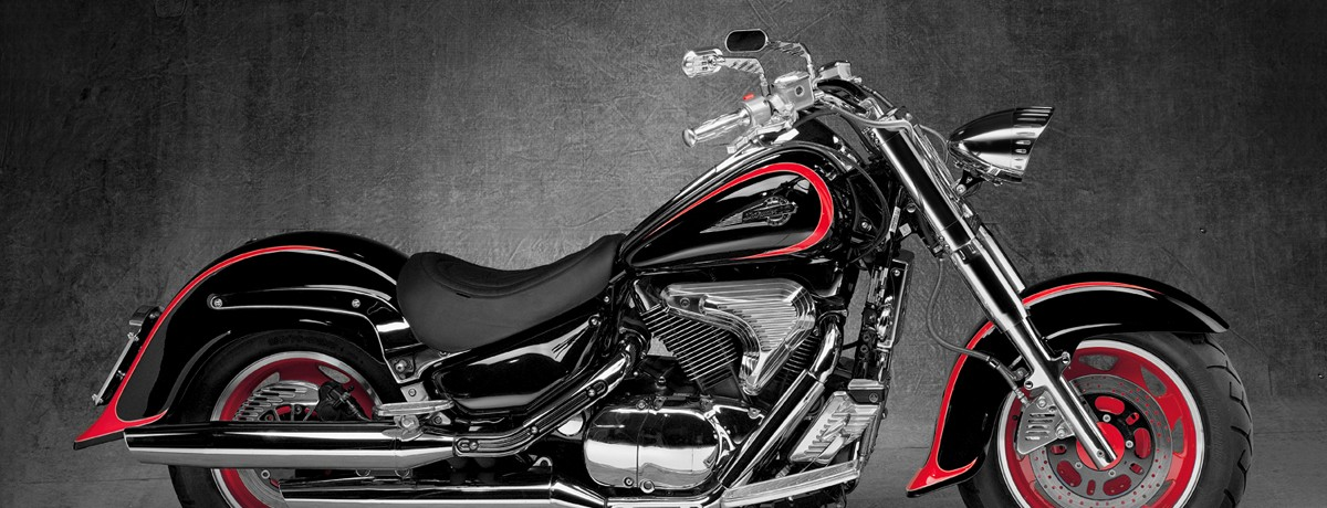 Suzuki INTRUDER LC 1500 machined from solid aluminium CRUISER